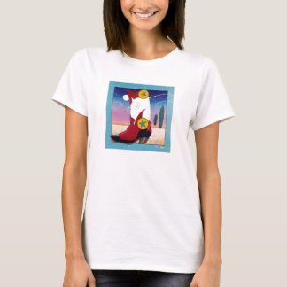 Spaghetti Top T-shirt - Cowboy Boot, All Dressed U