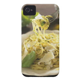 Spaghetti with basil and parmesan on plate, iPhone 4 Case-Mate case