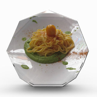 Spaghetti with bottarga on asparagus sauce award
