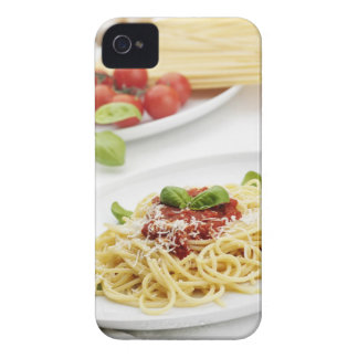 Spaghetti with tomato sauce and basil iPhone 4 case