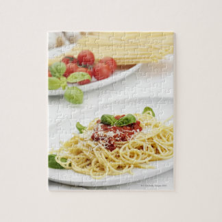 Spaghetti with tomato sauce and basil jigsaw puzzle