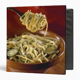 Spaghetti with zucchinis and lemon For use in Vinyl Binders