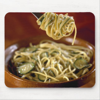 Spaghetti with zucchinis and lemon For use in Mouse Pads