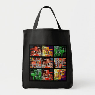 Spaghettii que pica bolsa tela para la compra