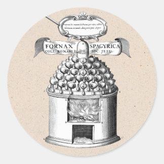 Spagyric Herbal Medicine Classic Round Sticker