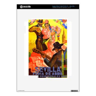 Spain 1949 Seville April Fair Poster iPad 3 Skins
