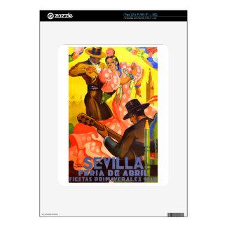 Spain 1949 Seville April Fair Poster iPad Decals