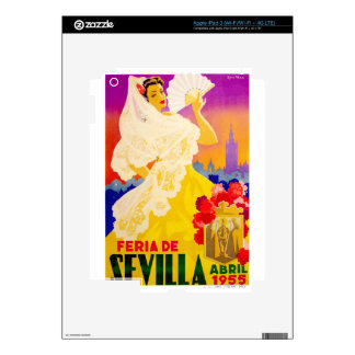 Spain 1955 Seville April Fair Poster iPad 3 Skins