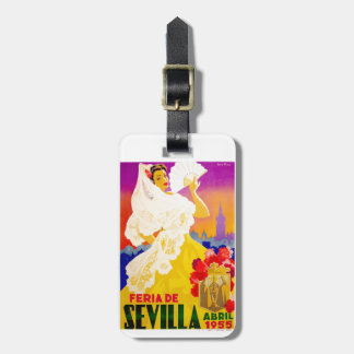 Spain 1955 Seville April Fair Poster Luggage Tag
