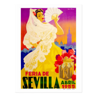 Spain 1955 Seville April Fair Poster Postcard