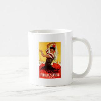 Spain 1959 Seville April Fair Poster Coffee Mug