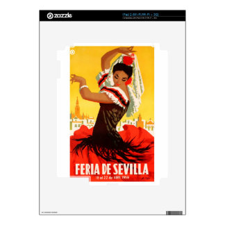 Spain 1959 Seville April Fair Poster Decal For iPad 2