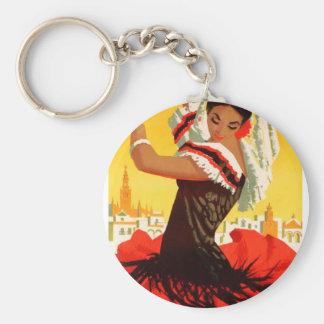 Spain 1959 Seville April Fair Poster Keychain