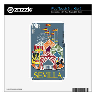 Spain 1960 Seville Festival Poster iPod Touch 4G Decals