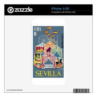 Spain 1960 Seville Festival Poster Skin For iPhone 4S