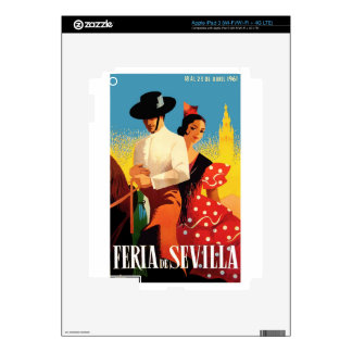 Spain 1961 Seville April Fair Poster Decal For iPad 3