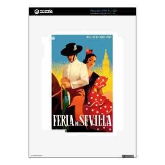 Spain 1961 Seville April Fair Poster Skins For The iPad 2