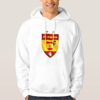 Spain 1964 2008 soccer futbol emblem shield hoodie