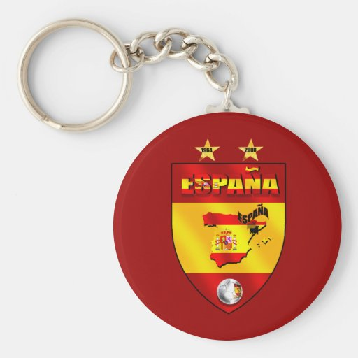 Spain 1964 2008 soccer futbol emblem shield keychain