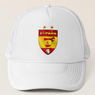 Spain 1964 2008 soccer futbol emblem shield trucker hat