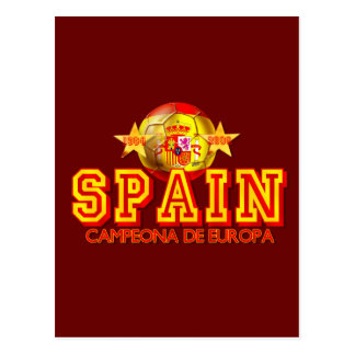 Spain 1964 and 2008 Champions of Europe gifts Postcard