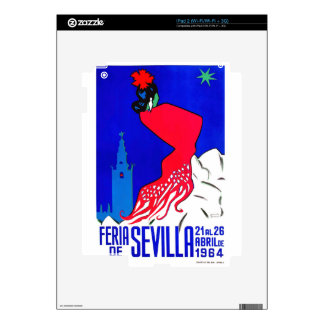 Spain 1964 Seville April Fair Poster Decals For iPad 2