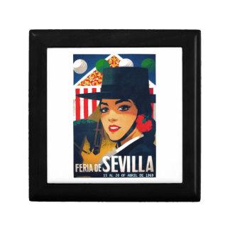 Spain 1969 Seville April Fair Poster Jewelry Box