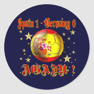 Spain 1 Germany 0 Again Spain Champions Classic Round Sticker