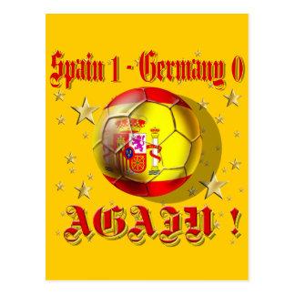 Spain 1 Germany 0 Again Spain Champions Postcard