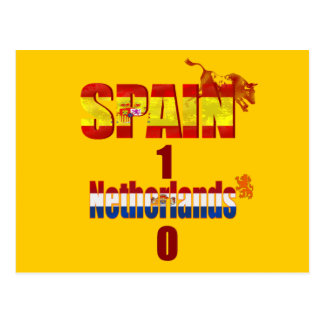Spain 1 Netherlands 0 - Spain World Champions Postcard