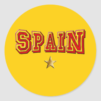 Spain 1 star logo classic round sticker