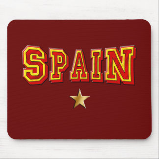 Spain 1 star logo mouse pad