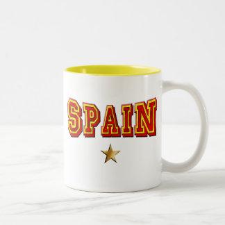 Spain 1 star logo Two-Tone coffee mug