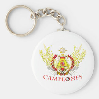Spain 2010 Campeones (Tribal) Basic Round Button Keychain