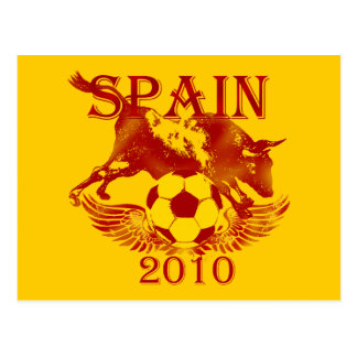 Spain 2010 football lovers futbol España postcard