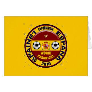 Spain 2010 World Champions Soccer Futbol Card