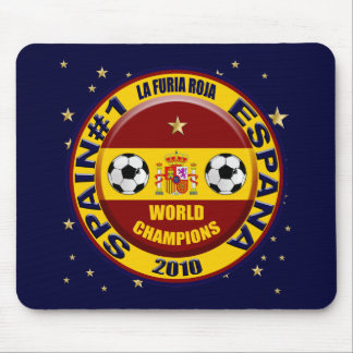 Spain 2010 World Champions Soccer Futbol Mouse Pad