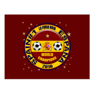 Spain 2010 World Champions Soccer Futbol Postcard