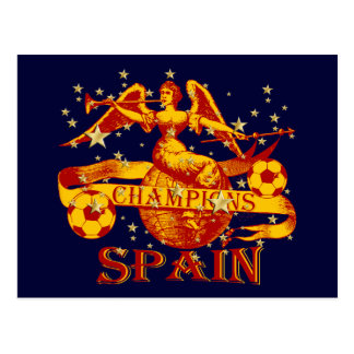 Spain 2010 World Champions Vuvuzela Soccer Postcard