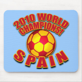 SPAIN 2010 WORLD CHAMPS Soccer Tshirts Mouse Pad