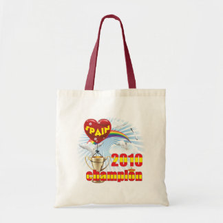 Spain 2010 World Cup Champions Trophy Canvas Bag