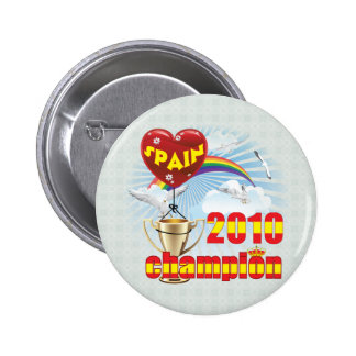 Spain 2010 World Cup Champions Trophy Pinback Button