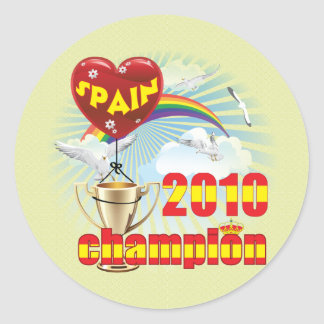 Spain 2010 World Cup Champions Trophy Classic Round Sticker