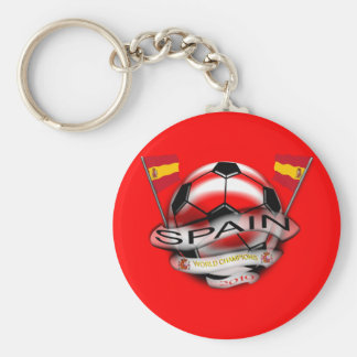 Spain 2010 World Cup World Champions Keychain