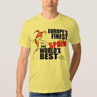 Spain 2012 European Soccer Cup Champions T-Shirt