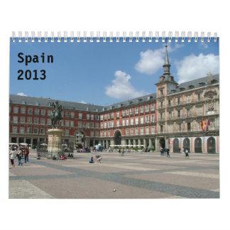 Spain 2013 calendar