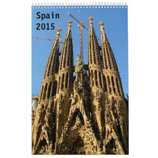 Spain 2015 wall calendar