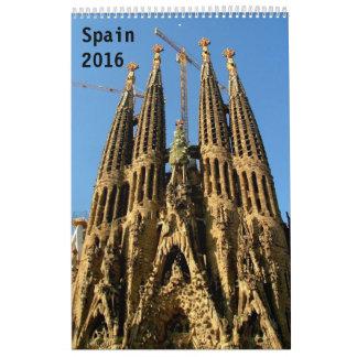 Spain 2016 calendar