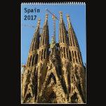 Spain 2017 calendar