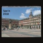 Spain 2018 calendar